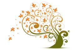 Herbstbaum stock abbildung