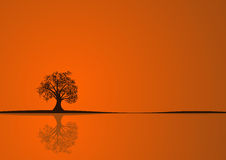 Herbstbaumauslegung lizenzfreie abbildung