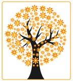 Herbstbaumblume Vektor Abbildung
