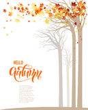 Herbstbaumfahne