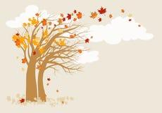 Herbstbaumhintergrund stock abbildung