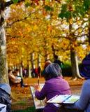 Herbstbild der Kunst stockfoto