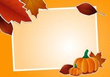 HerbstBilderrahmen Stockbild