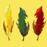 Herbstblätter auf orange Hintergrund lizenzfreie abbildung
