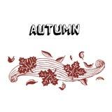Herbstblätter und -wind Lizenzfreie Stockfotos