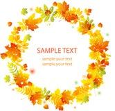 Herbstblathintergrund. vektorfahne Lizenzfreie Stockbilder