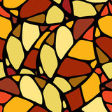 Herbstblatt seamles Muster stock abbildung