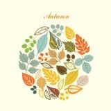 Herbstblatthintergrund Stockfotografie