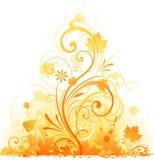 Herbstblumenelementauslegung vektor abbildung