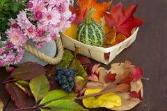Herbstblumenstrauß Lizenzfreies Stockbild