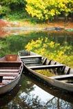 Herbstboote lizenzfreie stockfotos