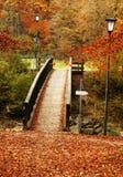 Herbstbrücke Stockfoto