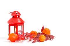 Herbstdekoration auf Weiß lizenzfreie stockbilder