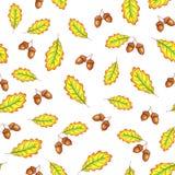 Herbsteiche verl?sst nahtloses Muster lizenzfreie abbildung