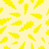 Herbsteichen-Blattmuster Lizenzfreies Stockbild