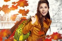 Herbsteinkaufen Lizenzfreie Stockfotos