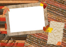 Herbsteinklebebuch Lizenzfreies Stockbild