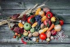 Herbsternteobst und gemüse - Stockfoto