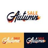 Herbstfall Logo und Emblem Auch im corel abgehobenen Betrag Lizenzfreies Stockbild