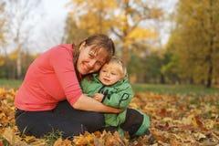 Herbstfamilie Stockfoto