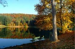 Herbstfarben auf einem See Lizenzfreie Stockfotografie