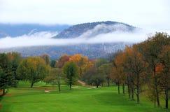 Herbstfarben des weißen Berges und der Seen Stockbild