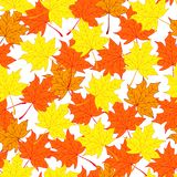 Herbstfarben 9 Herbst und heller Hintergrund Endloses und nahtloses Muster Stockbilder