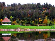 Herbstfarben im Park stockfotografie