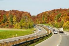 Herbstfarbendatenbahn Lizenzfreie Stockbilder