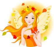 Herbstfee mit Blatt
