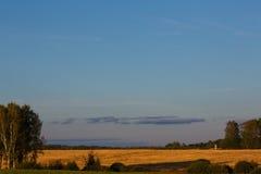 Herbstfeld im Land lizenzfreie stockbilder