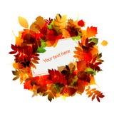 Herbstfeld mit Platz für Ihren Text stock abbildung