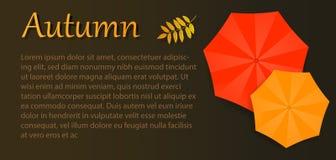 Herbstfliegerregenschirme Werbungsbroschüre Lizenzfreies Stockfoto