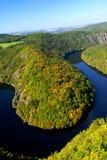Herbstflußlandschaft Stockfotos
