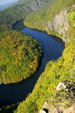 Herbstflußlandschaft Stockfoto