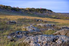 Herbstflusslandschaft lizenzfreies stockfoto