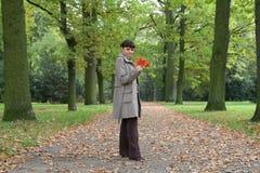 Herbstfrau #20 Stockfoto
