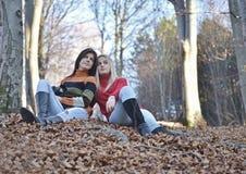 Herbstfrau portret Stockfotografie