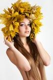 Herbstfrauen. Stockfoto