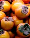 Herbstfrucht-Persimoneorange stockfotos