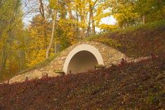 Herbstgartenbogen Stockbild