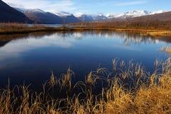 Herbstgebirgslandschaft Stockfotografie