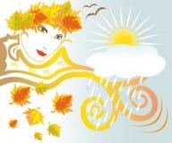 Herbstgesicht Stockbilder