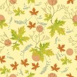 Herbstgrün lässt Muster Lizenzfreies Stockfoto