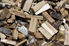 Herbsthaufen des Brennholzes Lizenzfreies Stockbild