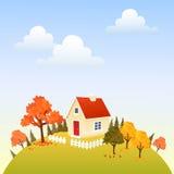 Herbsthaus lizenzfreie abbildung