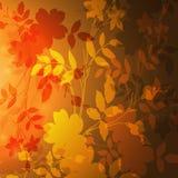 Herbsthintergrund mit Blättern Lizenzfreie Stockbilder