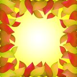 Herbsthintergrund mit gelben Blättern Schablonen für Plakate, Fahnen, Flieger, Darstellungen, Berichte Auf lagerabbildung Stockfoto