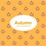 Herbsthintergrund mit Halloween-Kürbis stock abbildung