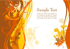 Herbsthintergrund mit Platz für Text Lizenzfreie Stockfotos